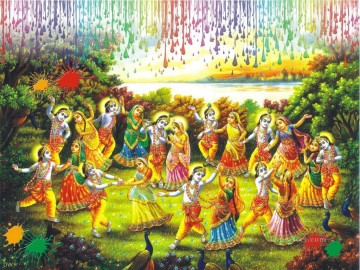 Radha Krishna 22 Hinduism Oil Paintings