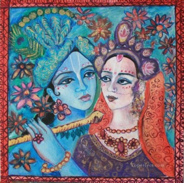 Radha Krishna 23 Hinduism Oil Paintings