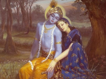 Radha Krishna 27 Hinduism Oil Paintings