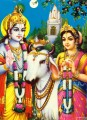 Radha Krishna and sheep Hindu