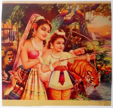 Radha Krishna 54 Hindoo Oil Paintings