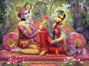 Artworks in 150 Subjects Painting - Radha Krishna 14 Hindoo