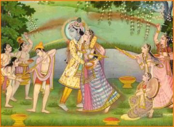 Radha Krishna 21 Hindoo Oil Paintings