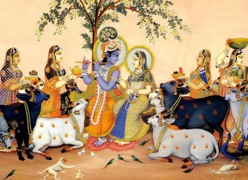 Radha Krishna 37 Hindoo Oil Paintings