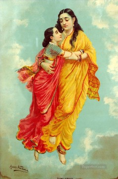 Agaligai Raja Ravi Varma Indians Oil Paintings