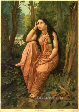 DAMAYANTHI VANVAS Raja Ravi Varma Indians Oil Paintings