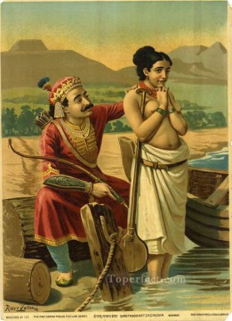 SHANTANOO MATSAGANDHA Raja Ravi Varma Indians Oil Paintings