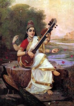 Saraswati Raja Ravi Varma Oil Paintings