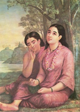 Shakuntala Raja Ravi Varma Indians Oil Paintings