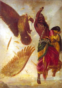 Ravi Varma Ravana Sita Jathayu Oil Paintings