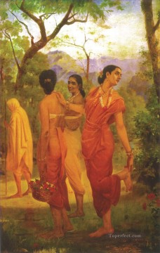 Ravi Varma Shakuntala columbia Oil Paintings