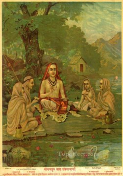 SHRIMADGURU ADI SHANKARACHARYA Raja Ravi Varma Indians Oil Paintings