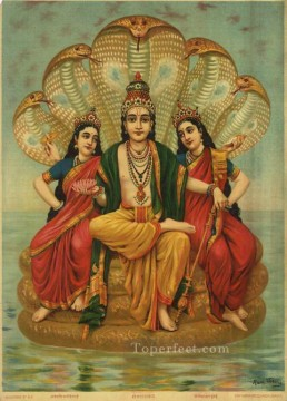 SESHNARAYAN Raja Ravi Varma Indians Oil Paintings