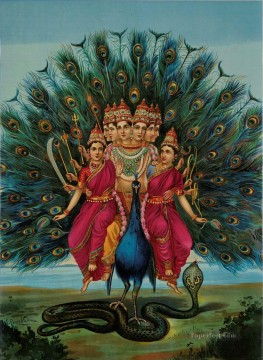 Artworks in 150 Subjects Painting - Murugan by Raja Ravi Varma