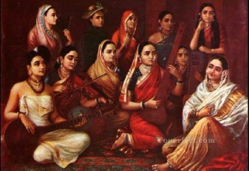 Artworks in 150 Subjects Painting - Raja Ravi Varma Galaxy of Musicians