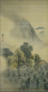 Japanese Painting - cuckoo flying over new verdure Yosa Buson Japanese