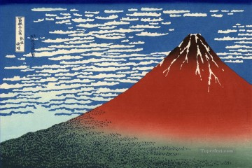 Katsushika Canvas - fuji mountains in clear weather 1831 Katsushika Hokusai Japanese