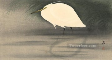 small Art - small white egret Ohara Koson Japanese