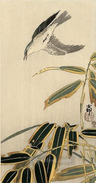 Japanese Painting - wheater and bamboo Ohara Koson Japanese
