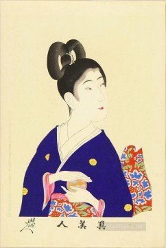 Chikanobu Art Painting - a beauty holding a ball 1897 Toyohara Chikanobu Japanese