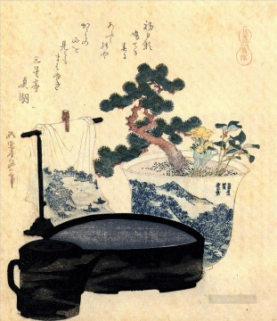 a lacquered washbasin and ewer Katsushika Hokusai Japanese Oil Paintings
