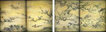 Artworks in 150 Subjects Painting - birds and flowers of the four seasons Kano Eitoku Japanese