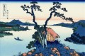 lake suwa in the shinano province Katsushika Hokusai Japanese