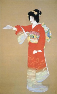 noh dance prelude 1936 Uemura Shoen Japanese Oil Paintings