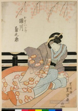 Japanese Painting - the kabuki actor segawa kikunojo v as okuni gozen 1825 Utagawa Toyokuni Japanese