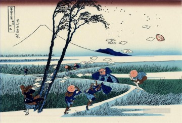 Japanese Painting - ejiri in the suruga province Katsushika Hokusai Japanese