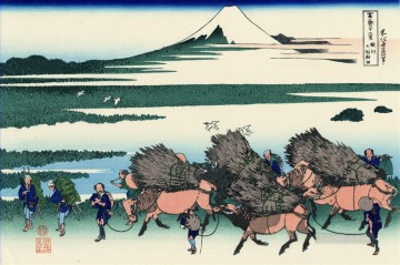 Japanese Painting - ono shindon in the suraga province Katsushika Hokusai Japanese
