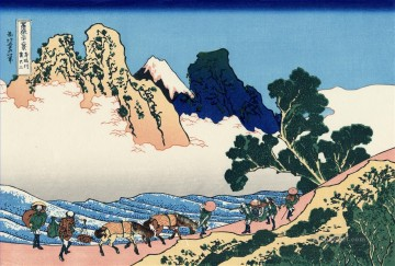Katsushika Canvas - the back of the fuji from the minobu river Katsushika Hokusai Japanese