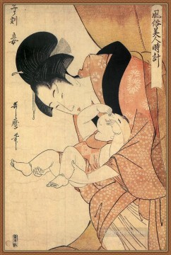 Hour Painting - midnight the hour of the rat Kitagawa Utamaro Japanese