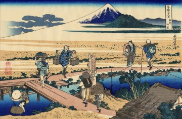 Japanese Painting - nakahara in the sagami province Katsushika Hokusai Japanese