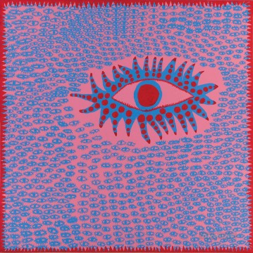 Japanese Painting - Accumulated Eyes Are Singing 2 Yayoi Kusama Japanese