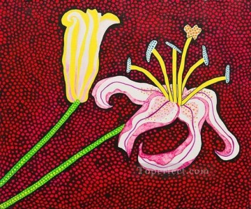 Japanese Painting - ready to blossom in the morning 1989 Yayoi Kusama Japanese