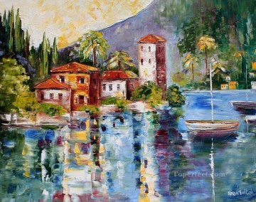 Aegean and Mediterranean Painting - Lake Como Reflections Mediterranean Aegean
