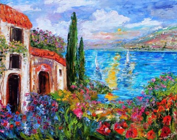 Aegean and Mediterranean Painting - Amalfi Coast Twilight Mediterranean Aegean