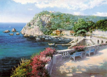 Aegean and Mediterranean Painting - mt035 impressionist scene Med