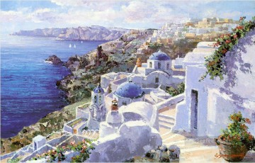 Aegean and Mediterranean Painting - mt042 impressionist scene Med