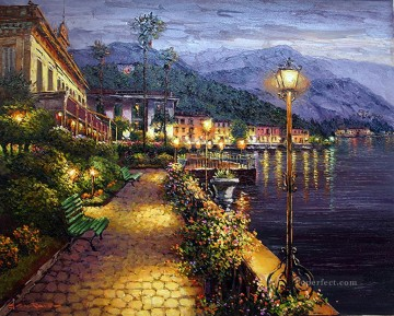 Aegean and Mediterranean Painting - Bellagio Night 2 Aegean Mediterranean