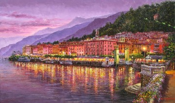 Aegean and Mediterranean Painting - Bellagio Night Aegean Mediterranean