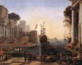 Ulysses Returns Chryseis to her Father landscape Claude Lorrain Beach