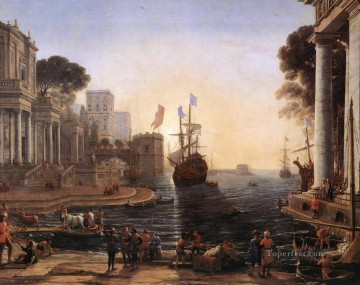 Ulysses Returns Chryseis to her Father landscape Claude Lorrain Beach Oil Paintings