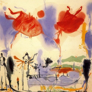 helen frankenthaler round trip 1957 Oil Paintings