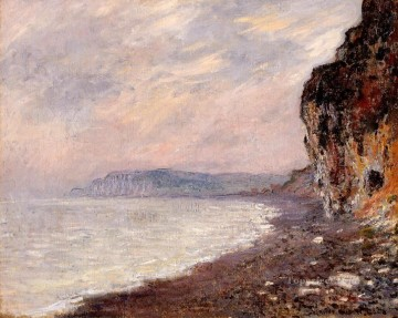 Cliffs Art - Cliffs at Pourville in the Fog Claude Monet Beach