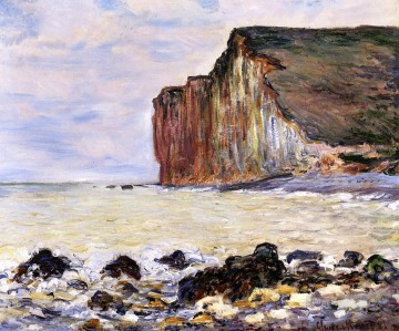 Cliffs Art - Cliffs of Les Petites Dalles Claude Monet Beach