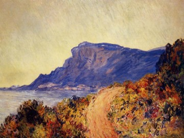 Coast Painting - Coastal Road at Cap Martin near Menton Claude Monet Beach