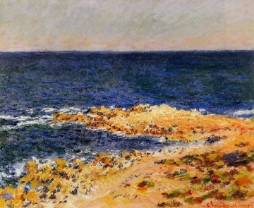 The Big Blue in Antibes Claude Monet Beach Oil Paintings