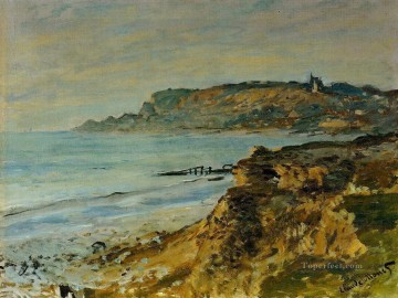The Cliff at SainteAdresse Claude Monet Beach Oil Paintings